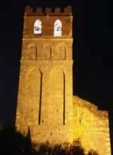 L'Eglise Bell Tower at night